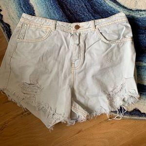 Zara mint green high waist shorts